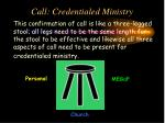 call credentialed ministry1