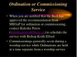 ordination or commissioning service