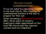 overview toward commissioning