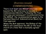 overview toward commissioning1