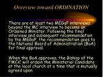 overview toward ordination1