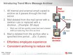introducing trend micro message archiver