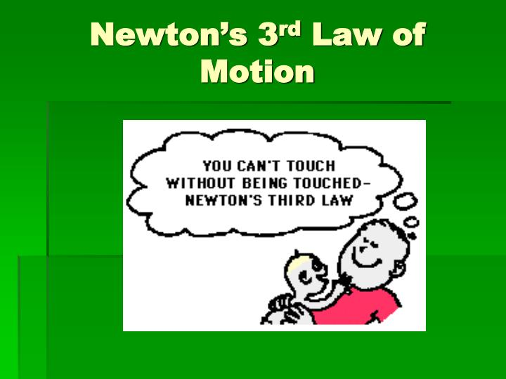 newton s 3 rd law of motion n.