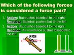 which of the following forces is considered a force pair