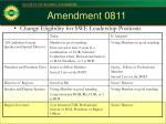 amendment 0811