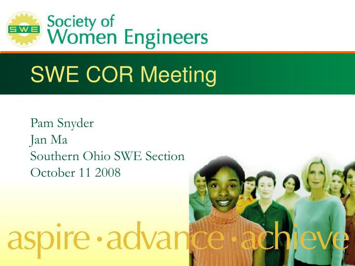swe cor meeting n.