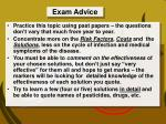 exam advice