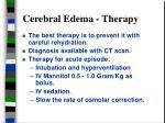 cerebral edema therapy