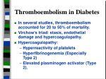 thromboembolism in diabetes