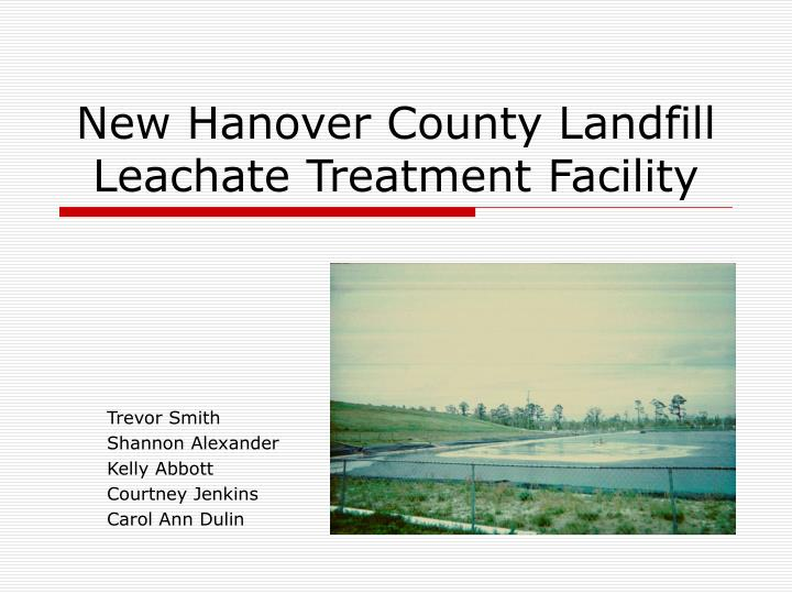 new hanover county landfill leachate treatment facility n.