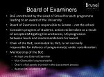 board of examiners