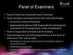 panel of examiners