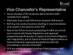 vice chancellor s representative