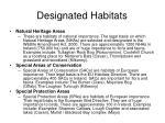 designated habitats