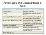 advantages and disadvantages of coal
