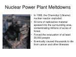 nuclear power plant meltdowns