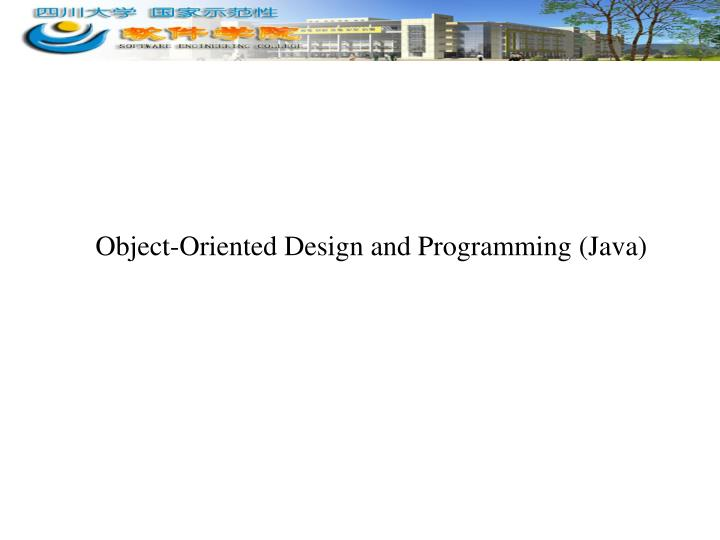 object oriented design and programming java n.