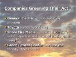 companies greening their act