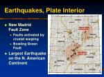 earthquakes plate interior