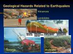 geological hazards related to earthquakes