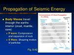 propagation of seismic energy
