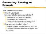 generating reusing an example