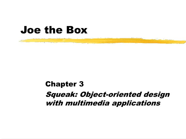 joe the box n.