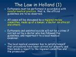 the law in holland 1