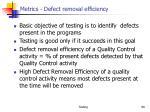 metrics defect removal efficiency