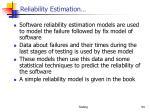 reliability estimation