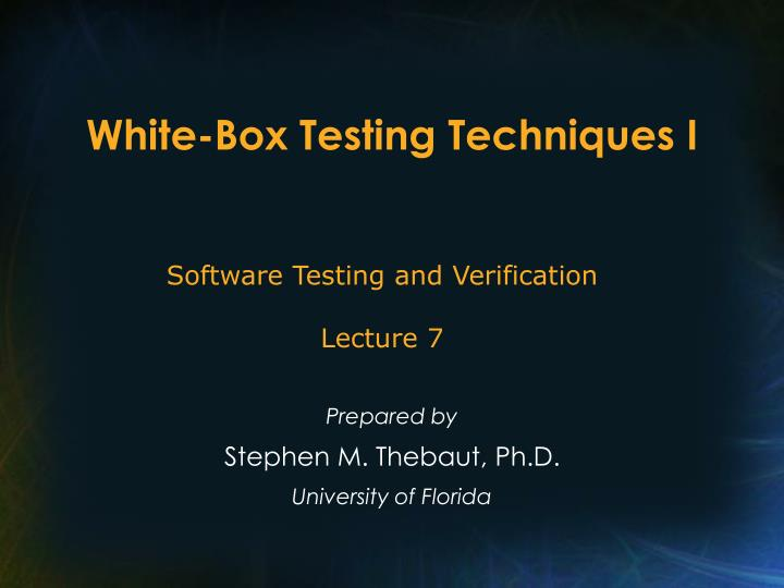 thesis on software testing techniques