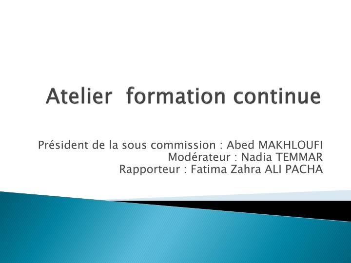 atelier formation continue n.