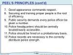 peel s principles cont d