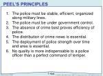 peel s principles