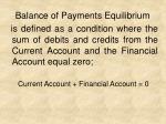balance of payments equilibrium