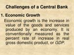 challenges of a central bank1