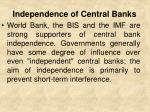 independence of central banks1