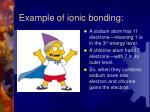 example of ionic bonding