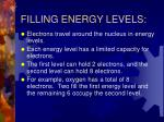filling energy levels