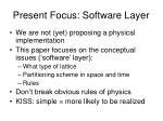 present focus software layer