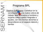 programa bpl