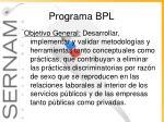 programa bpl1