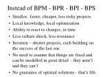 instead of bpm bpr bpi bps