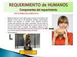 requerimiento de humanos componentes del requerimiento