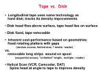 tape vs disk