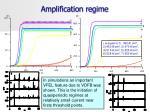 amplification regime