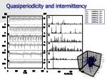 quasiperiodicity and intermittency1