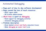 automated debugging