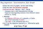 bug signature discriminative sub graph