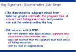 bug signature discriminative sub graph1